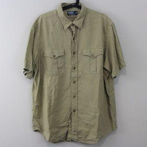 Polo Ralph Lauren Linen Blend Button Up Shirt L122